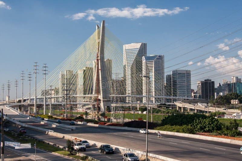 Sao marginal Paulo Brazil de Pinheiros foto de archivo