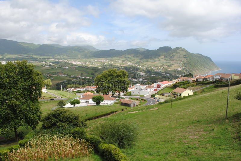 Download Sao Miguel stock photo. Image of water, acores, houses - 21676504