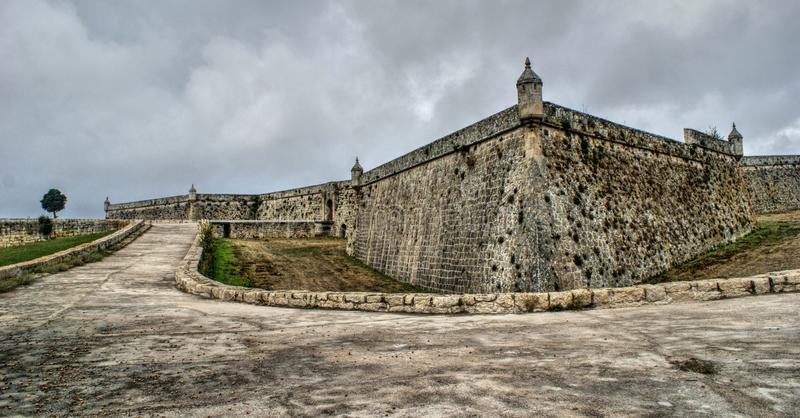 Sao Neutel Fortress in Chaves. North of Portugal stock image