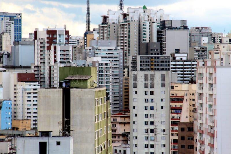 Sao Paulo śródmieścia linia horyzontu obrazy royalty free