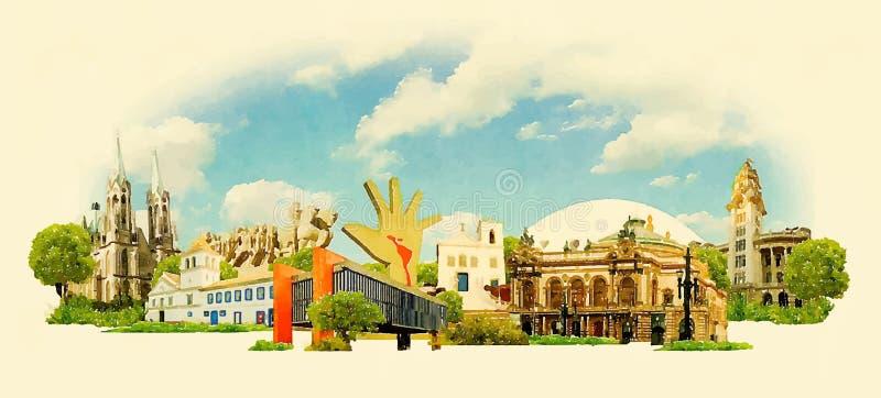 Sao Paulo illustration de vecteur