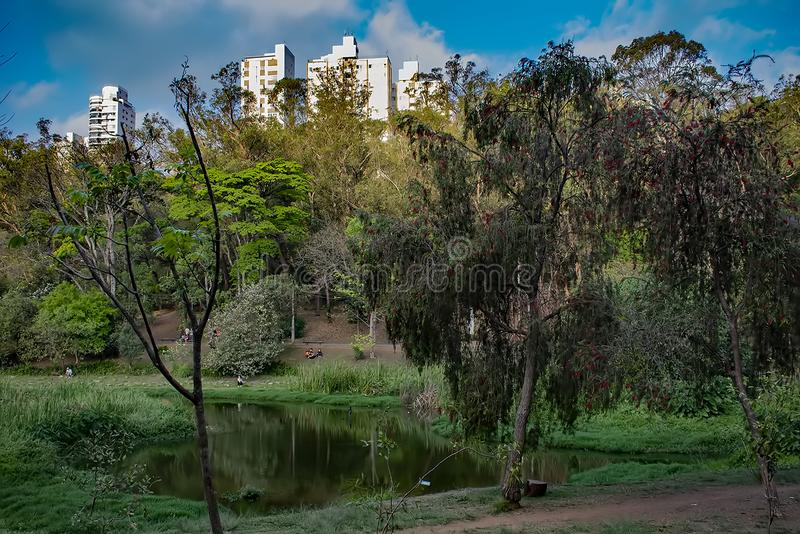 Sao paulo acclimatization park in september royalty free stock images