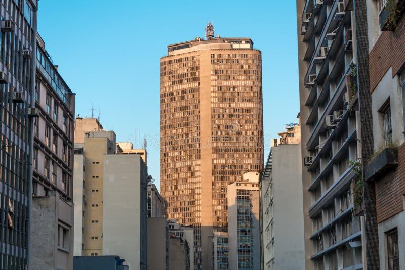 Sao Paulo, Br?sil Vue panoramique du bâtiment célèbre de l'Italie de gratte-ciel Edificio Italie, à Sao Paulo, le Brésil photographie stock libre de droits