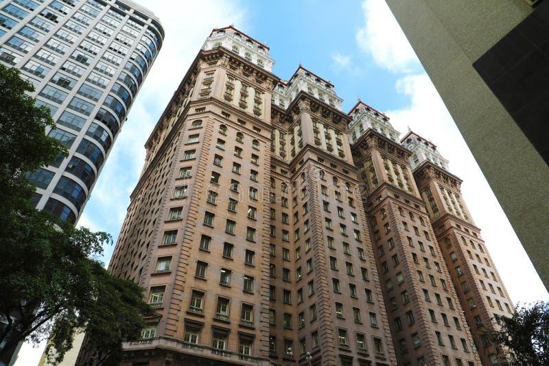 SAO PAULO, BRASIL - 9 DE MAIO DE 2019: Martinelli que constrói na baixa de Sao Paulo, Brasil imagem de stock royalty free