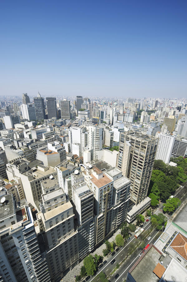 Sao Paulo Brazil Cityscape Skyline Vertical royalty-vrije stock afbeelding