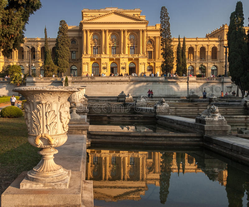 Sao Paulo Brazil do palácio de Ipiranga imagens de stock royalty free