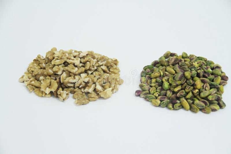 Sao Paulo Brazil för bakgrund för frukt för pistaschvalnötskiva mat isolerad vit royaltyfri foto