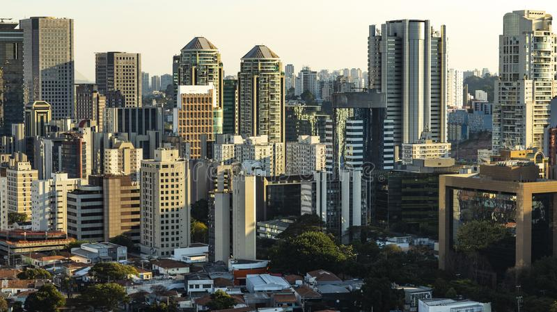 Sao Paulo Brazil, grande ville, grands bâtiments image libre de droits