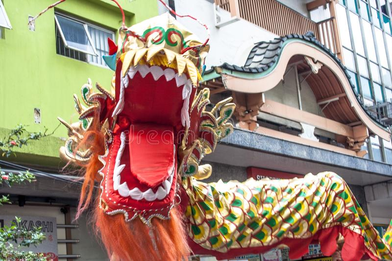 Celebration of Chinese New Year in Brazil royalty free stock images