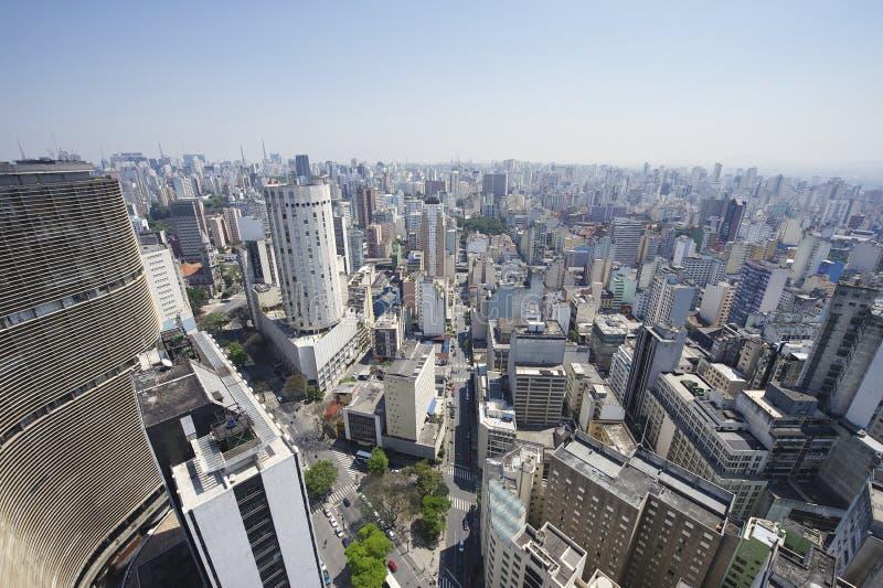 Sao Paulo Brazylia linii horyzontu architektury punkty zwrotni obraz stock