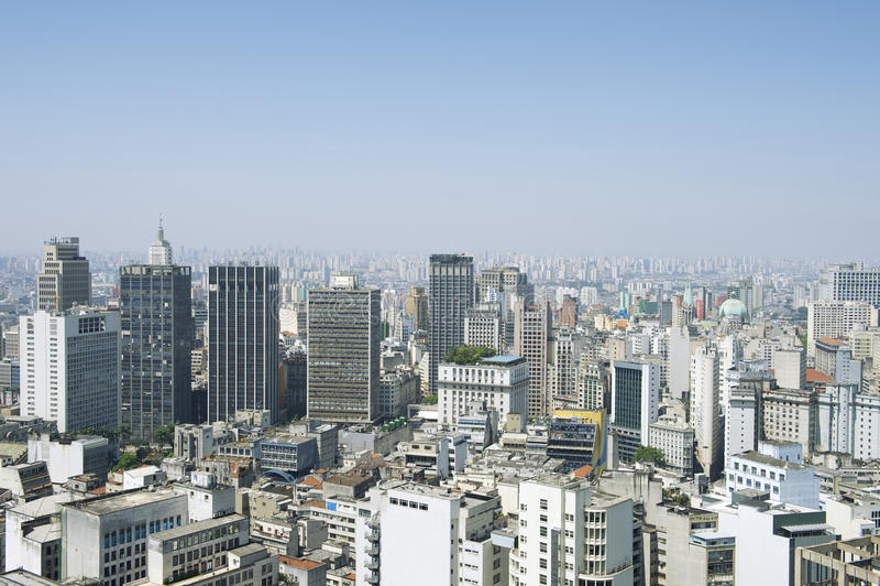 Sao Paulo Brazylia pejzażu miejskiego linia horyzontu fotografia stock