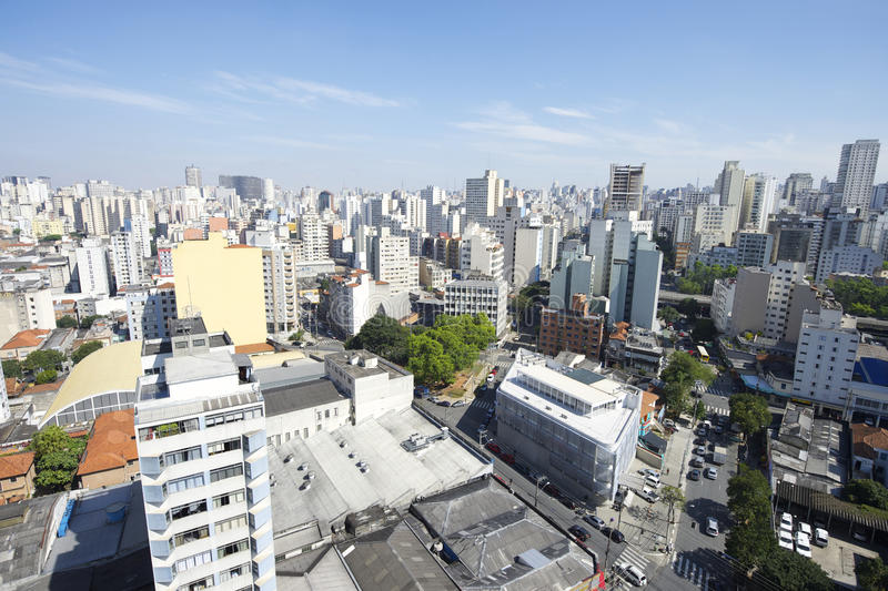 Sao Paulo Brazylia pejzażu miejskiego linia horyzontu zdjęcia stock
