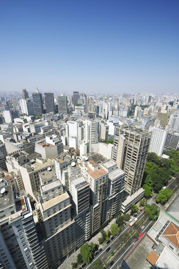 Sao Paulo Brazylia pejzażu miejskiego linii horyzontu Vertical obraz royalty free