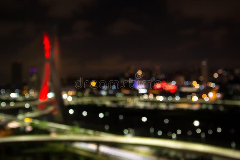 Sao Paulo cable-permanecía el puente foto de archivo libre de regalías