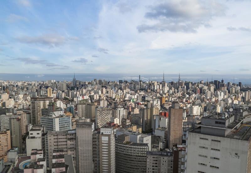 Sao Paulo central en el Brasil foto de archivo