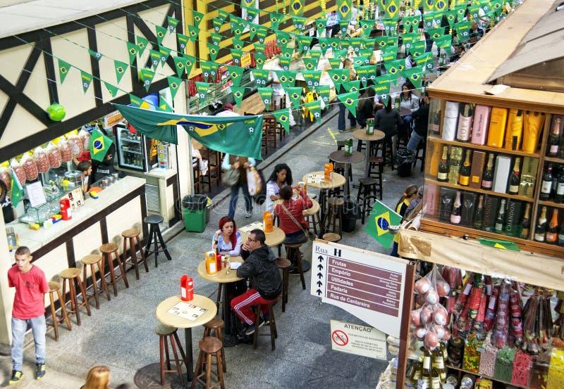 Sao Paulo Central Market royaltyfria foton