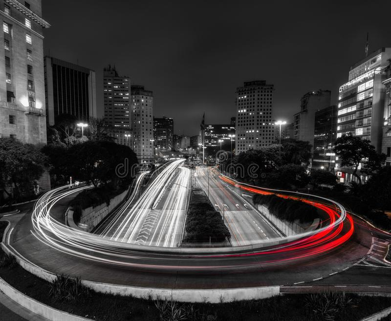 Sao Paulo da baixa foto de stock