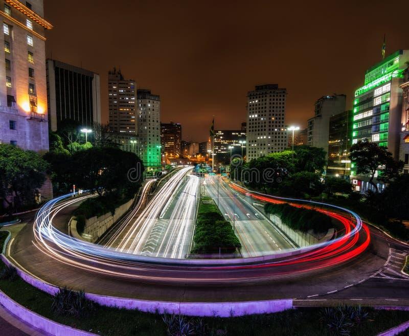 Sao Paulo da baixa imagens de stock