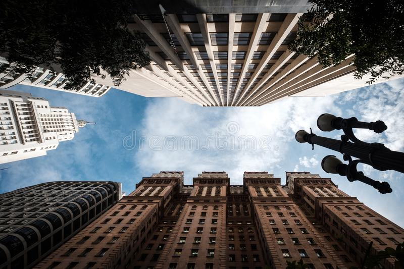 Sao Paulo downtown famous buildings stock images