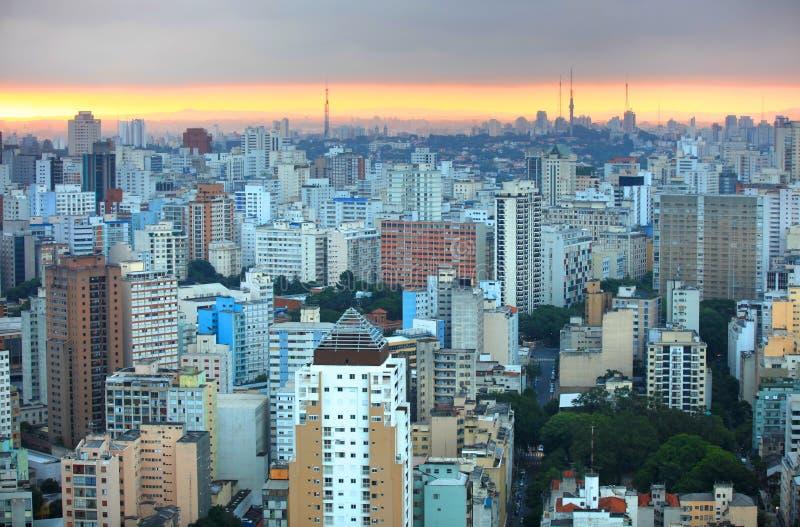 Sao Paulo du centre photographie stock libre de droits