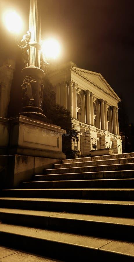 Sao Paulo/el Brasil - junio 20 19: Museo de Ipiranga, iluminado en la noche fotografía de archivo libre de regalías