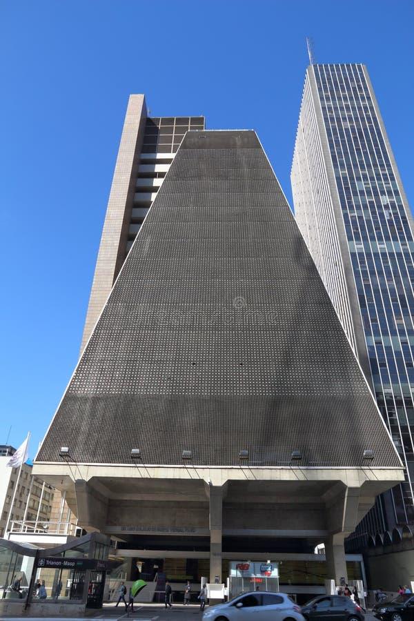 Sao Paulo - FIESP fotografia de stock royalty free