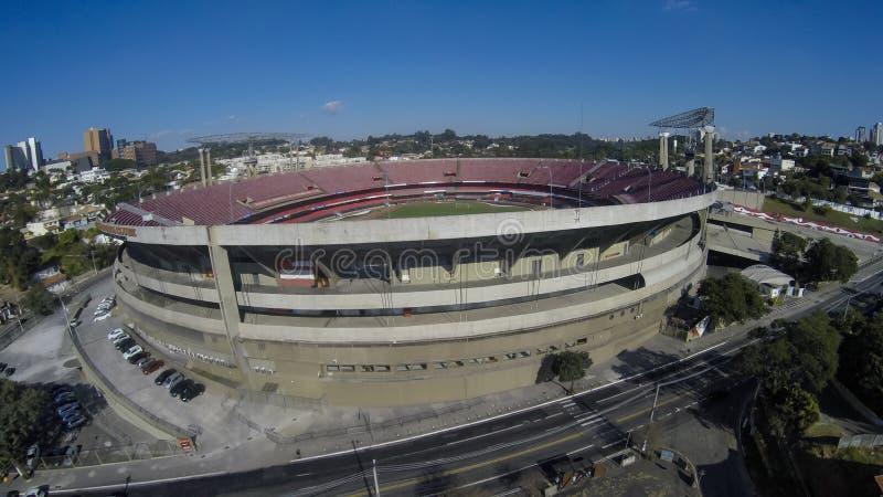 Sao Paulo Futebol Clube o stadio Cicero Pompeu de Toledo immagine stock libera da diritti
