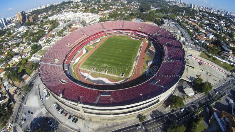 Sao Paulo Futebol Clube o stadio Cicero Pompeu de Toledo, Brasile fotografia stock
