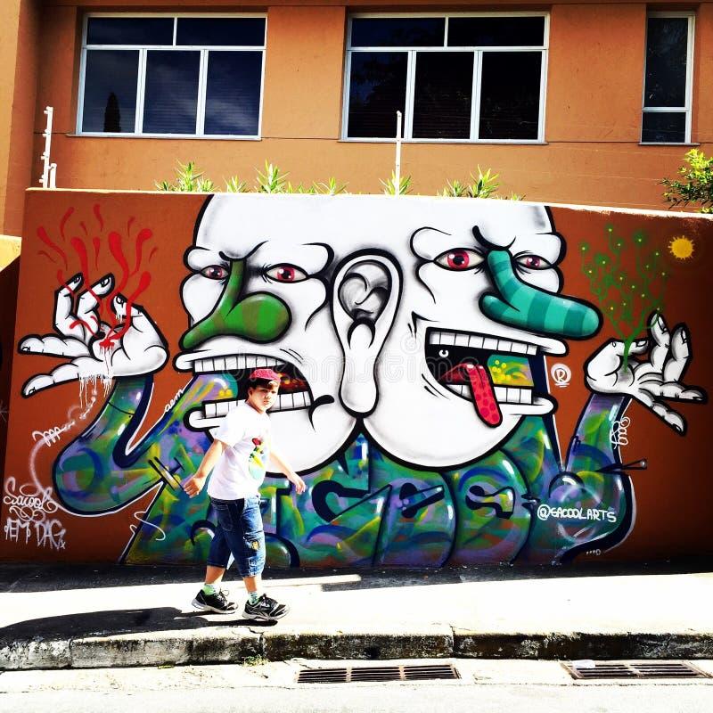 Sao Paulo Graffiti stock foto