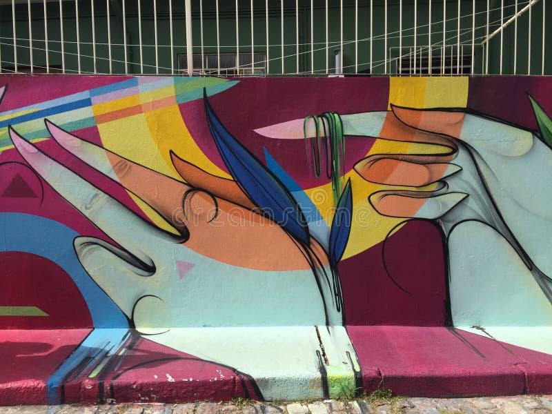 Sao Paulo Graffiti lizenzfreie abbildung
