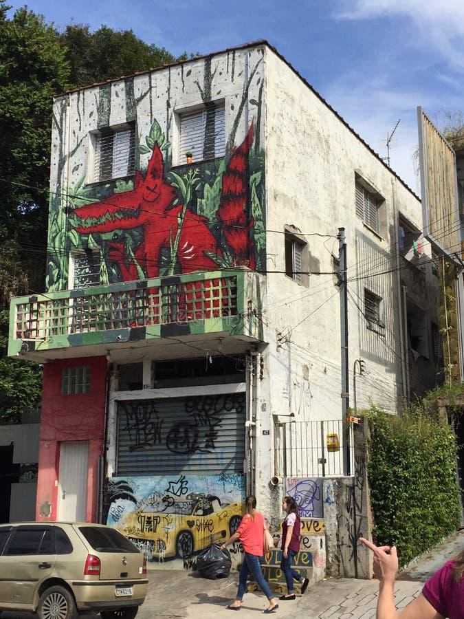 Sao Paulo Graffiti stock afbeelding