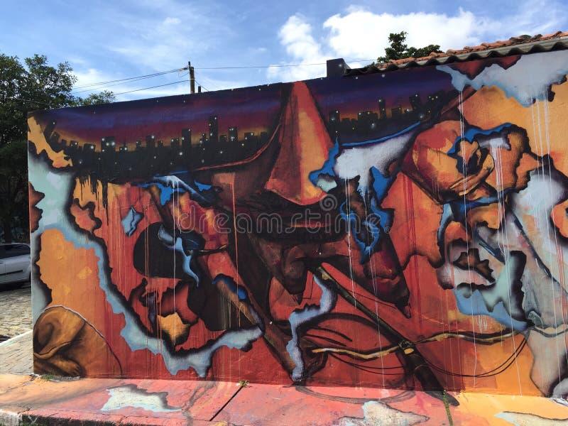 Sao Paulo Graffiti stock foto's