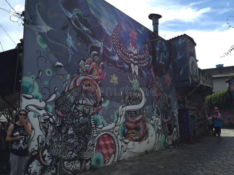 Sao Paulo Graffiti royalty-vrije stock foto