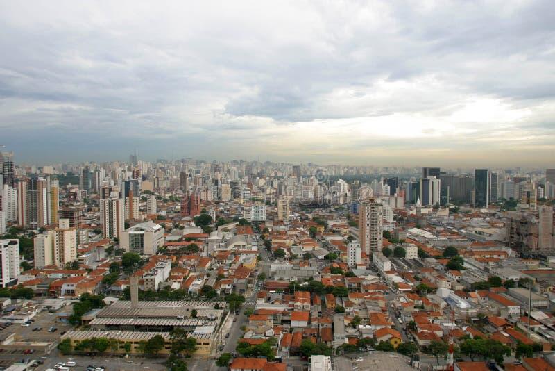 Sao Paulo, la ville la plus importante au Brésil image libre de droits