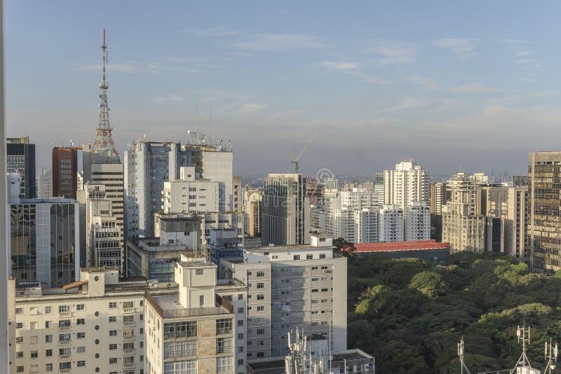Sao Paulo miasta widok z wierzchu budynku fotografia royalty free