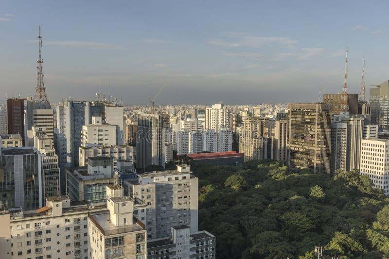 Sao Paulo miasta widok z wierzchu budynku obraz stock