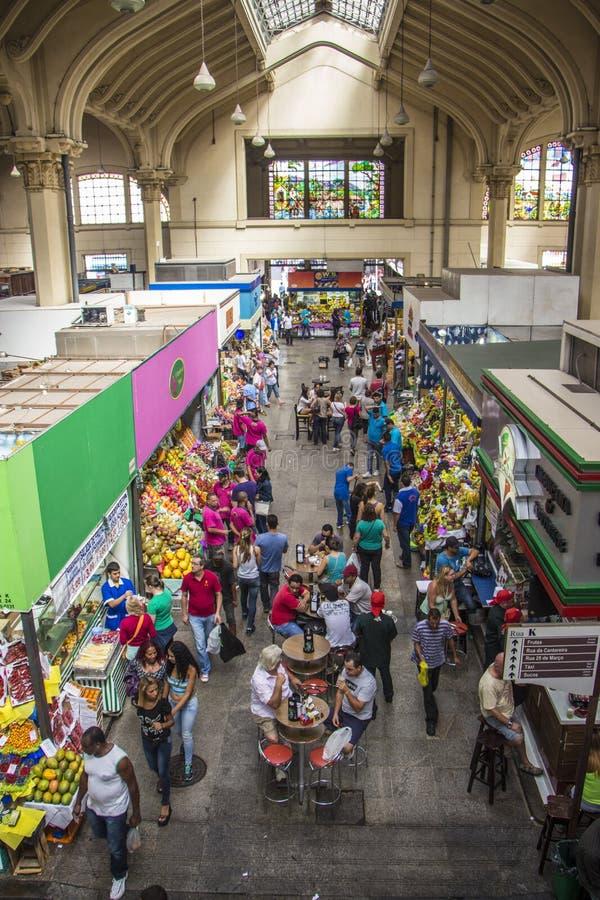Sao Paulo Municipal Market Brazil foto de archivo