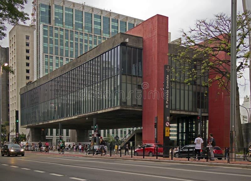 Sao Paulo Museum di arte fotografie stock libere da diritti