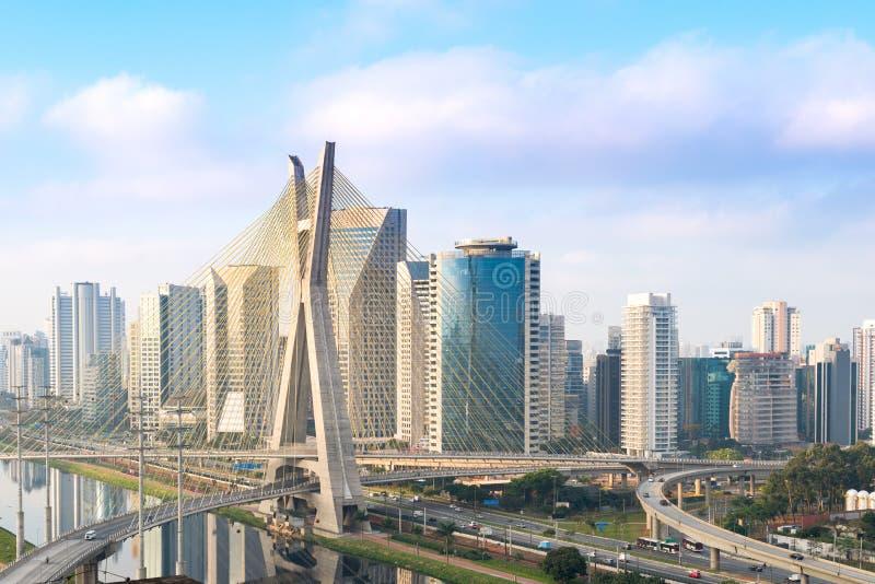 Sao Paulo no por do sol, Brasil foto de stock royalty free