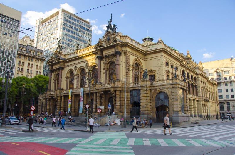 Sao Paulo Opera House stock afbeeldingen