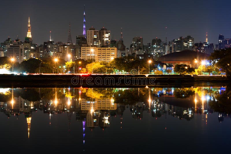 Sao Paulo, parque de Ibirapuera fotografia de stock royalty free