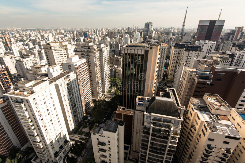 Sao Paulo Residential Buildings foto de stock