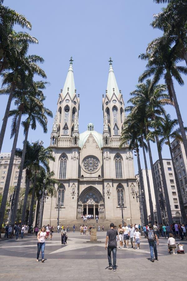 Sao Paulo See Metropolitan Cathedral imagen de archivo libre de regalías