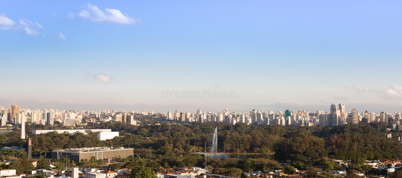Sao Paulo Skyline, Brasil fotografia de stock royalty free