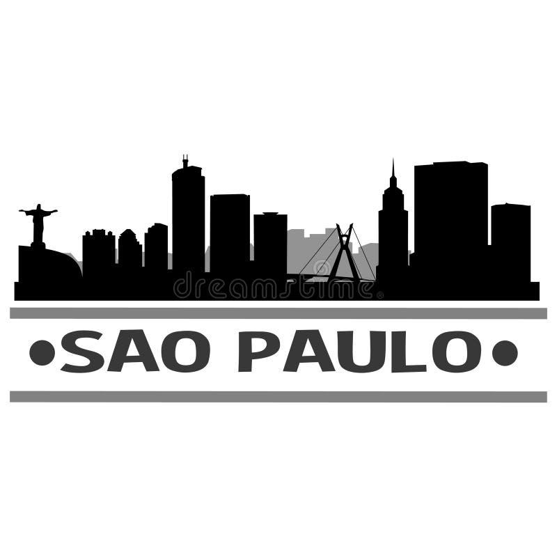 Sao Paulo Skyline City Icon Vector Art Design stock de ilustración