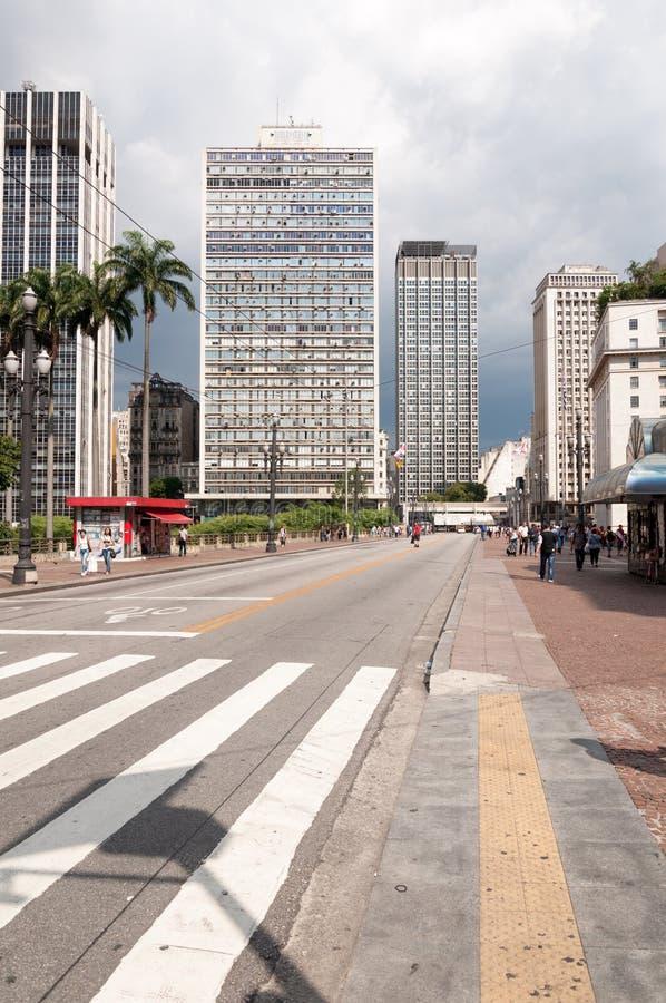 Sao Paulo, tè del viadotto fotografia stock