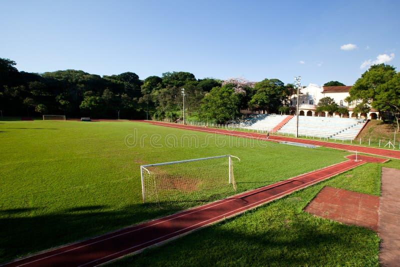 Sao Paulo University em Ribeirao Preto - Brasil Em julho de 2017 fotografia de stock