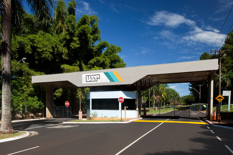 Sao Paulo University in Ribeirao Preto - Brasilien Juli 2017 lizenzfreies stockfoto
