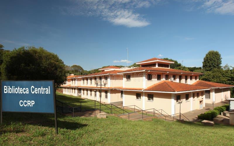 Sao Paulo University in Ribeirao Preto - Brazilië Juli, 2017 stock foto's