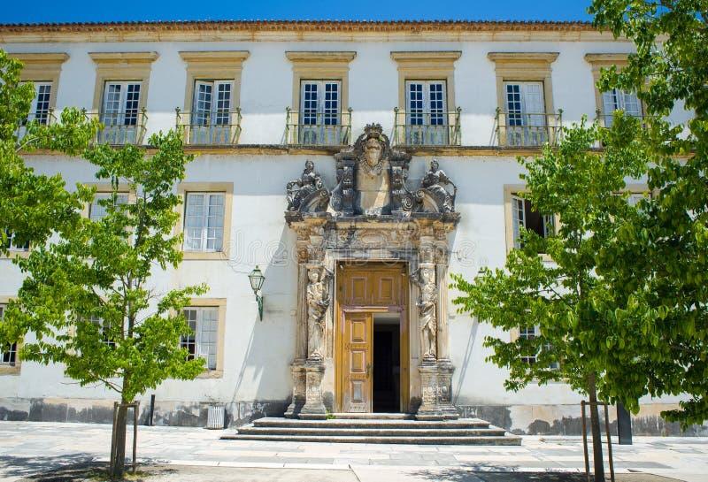 Sao Pedro college in Coimbra University. Portugal. Sao Pedro college facade in Patio das Escolas courtyard of the Coimbra University. Portugal stock photography
